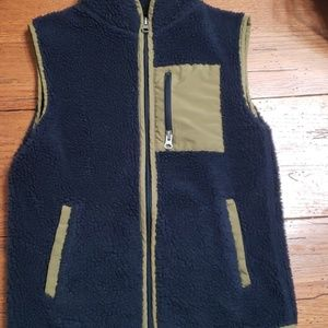 Navy blue vest jacket